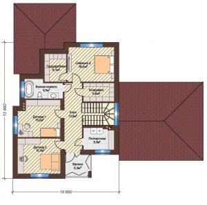 Проект дома КД - 204_Планировка 2 этаж