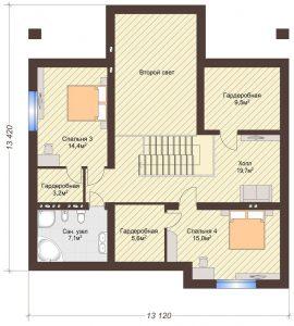 Проект дома КД - 209_Планировка 2 этаж