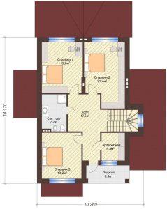 Проект дома КД - 217_Планировка 2 этаж