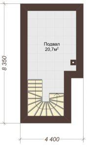Проект дома КД - 341_Подвал