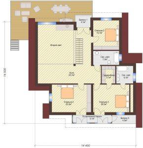 Проект дома КД - 371_Планировка 2 этаж