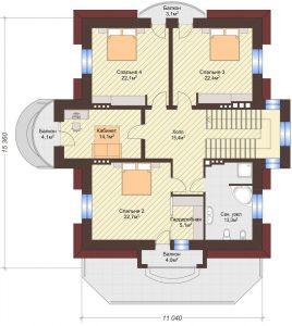 Проект дома КД - 375_Планировка 2 этаж