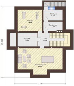 Проект дома КД - 375_Подвал