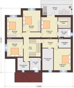 Проект дома КД - 432_Планировка 2 этаж