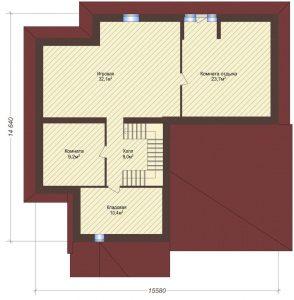 Проект дома КД - 432_Планировка 3 этаж (мансардный)