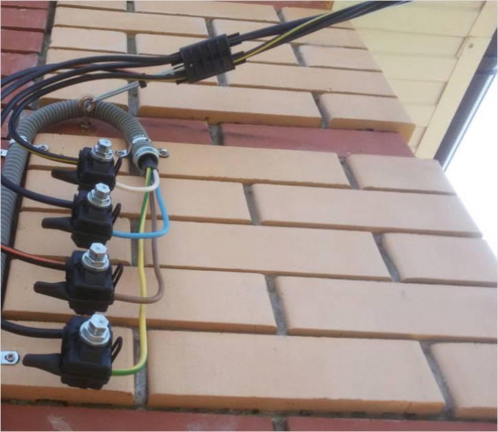 Схема монтажа ввода электричества в дом 5